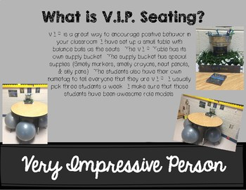 V.I.P. Seating (Very Impressive People)