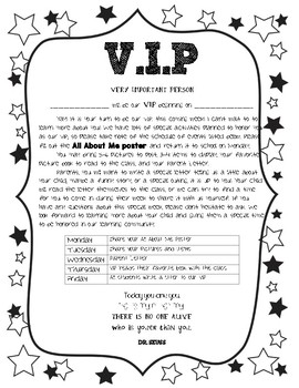 V.I.P (Very Important Person) Student of the week