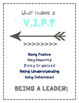 V.I.P. poster: What Makes a V.I.P.?