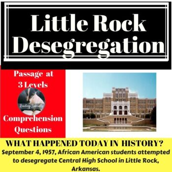Little Rock Desegregation Differentiated Reading Passage, September 4