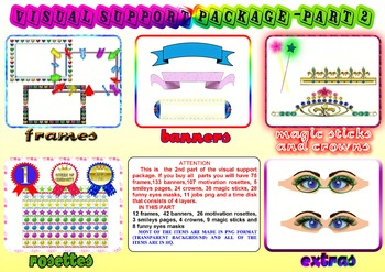 VİSUAL SUPPORT PACKAGE part2 (FRAMES, MASKS, BANNERS, MOTİ