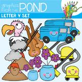 Letter V Set - Alphabet Clipart