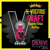 V - VULTURE Upper Case Capital Alphabet Letter Craft