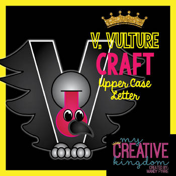 V - VULTURE Upper Case Capital Alphabet Letter Craft