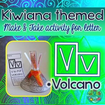 V = Volcano {Kiwiana Themed 'Make & Take' Alphabet Set}
