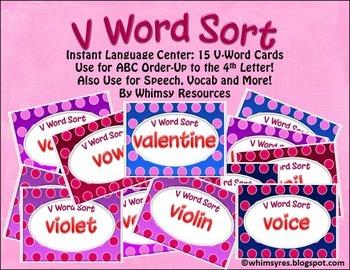 V Word Order- Valentine Theme