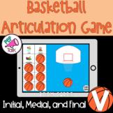V Words Initial Medial Final Basketball Articulation Game