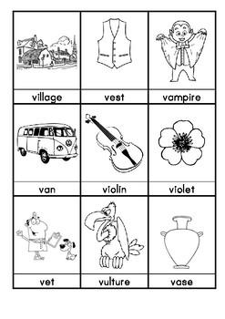 V. Words beginning with V flashcards