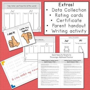 Articulation Activities and Comic Book: Speech Therapy (/v/ and /f/)