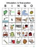 V final position Articulation Bingo with SymbolStix