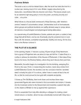 V for Vendetta Insight Text Article