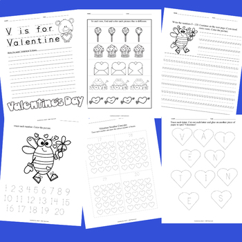 V is for Valentine - PRINT & GO (NO PREP)