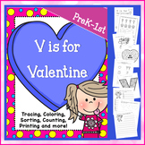 V is for Valentine - PRINT & GO (NO PREP)