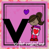 V is for Valentine's Day Themed Preschool Lesson Plans (one week curriculum)