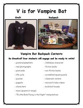 V is for Vampire Bat