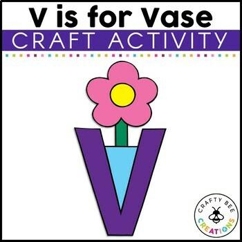 Letter V (Vase) Cut and Paste