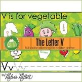 V is for Vegetable File Folder Game
