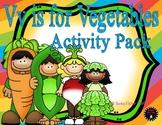 Letter of the Week - V is for Vegetables Preschool Kindergarten Alphabet Pack