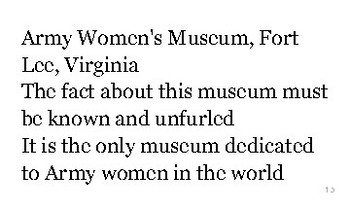 V is for Virginia flash cards
