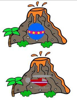 V is for Volcano (Letter V Unit)