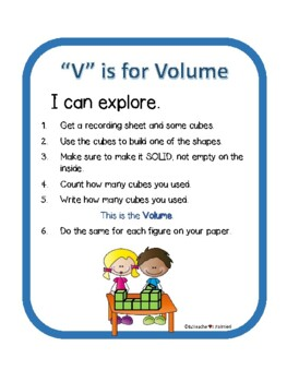"""V"" is for Volume - finding volume using cubes - no multiplication"