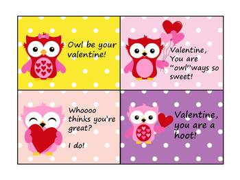 "V""owl""entines - Owl themed Valentine Cards"