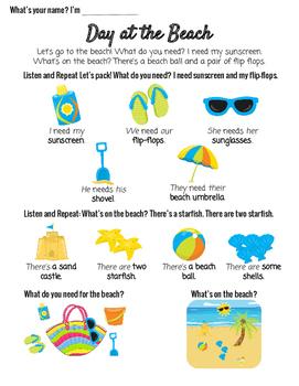 V4 ESL Conversation Vocabulary Lesson Beach