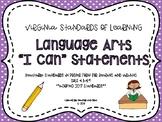 """VA 4th Grade Language Arts SOL """"I Can"""" Statements"""