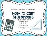 "VA 4th Grade Math SOL Objectives/""I Can"" Statements"