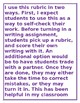 VA 4th Grade Writing Rubric