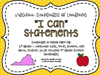 VA 5th Grade I Can Statements