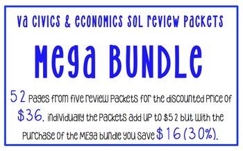 VA Civics and Economics SOL Mega BUNDLE