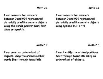 VA Grade 2 Math Essential Skills Postcards