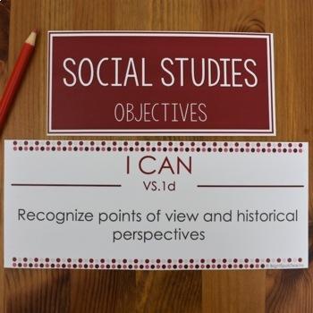 VA History I CAN Objectives