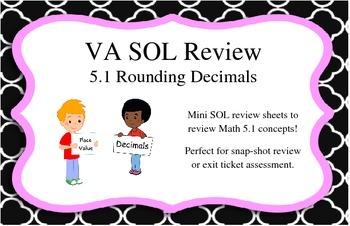 GRADE 5 MATH VIRGINIA SOL 5.1 ROUNDING DECIMALS