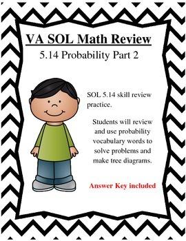 GRADE 5 MATH VIRGINIA SOL 5.14 PROBABILITY PT. 2