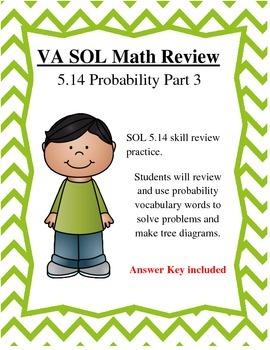 GRADE 5 MATH VIRGINIA SOL 5.14 PROBABILITY PT. 3
