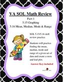 GRADE 5 MATH VIRGINIA SOL 5.15 GRAPHING, 5.16 MMMR REVIEW PT. 1