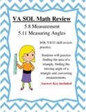 GRADE 5 MATH VIRGINIA SOL 5.8 Measurement/5.11 Measuring Angles