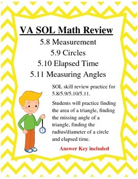 GRADE 5 MATH VIRGINIA SOL 5.8, 5.9, 5.10, 5.11 REVIEW