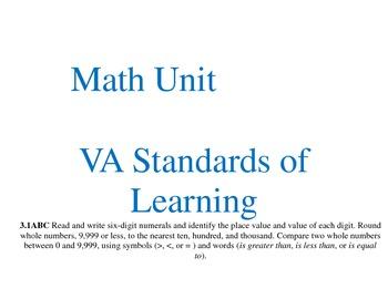 VA MATH SOL Grade 3 display