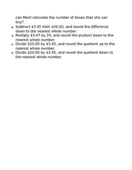 VA Math SOL 6.7 - Decimal Computation Exit Ticket