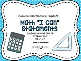 "VA 5th Grade Math SOL Objectives/""I Can"" Statements"