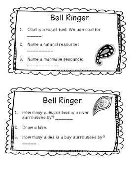 Natural Resources Morning Work {Common Core Aligned}