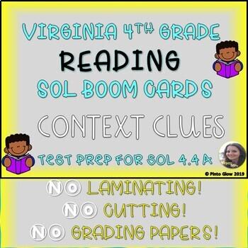 VA READING SOL 4.4 A CONTEXT CLUES BOOM CARDS