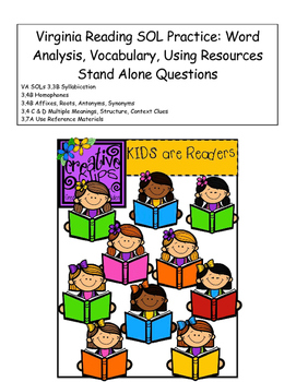 Virginia Reading SOL Word Analysis & Vocabulary Review