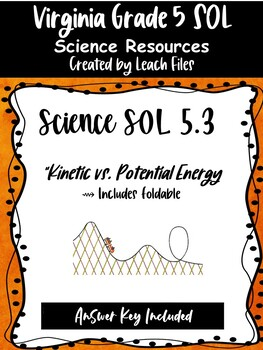 GRADE 4 VIRGINIA SCIENCE SOL 4.2 FORCE & MOTION FOLDABLE