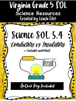 GRADE 4 VIRGINIA SCIENCE SOL 4.3 - CONDUCTORS VS. INSULATORS