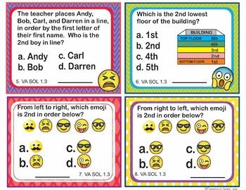 VA SOL 1.1-5 Virginia (2016) - Math Task Cards BUNDLE Numbers and Number Sense