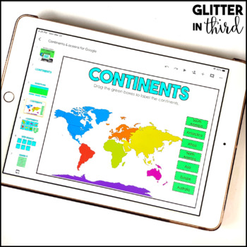 VA SOL 2.6 Map skills & geography for Google Classroom DIGITAL BUNDLE